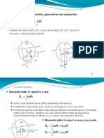 caracteristici geometrice sectionale
