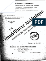 1901 Jollivet Castellot Grand Oeuvre Alchimique