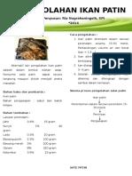 Leaflet Aneka Olahan Patin