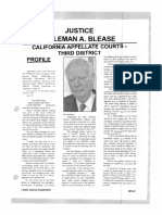 Profile of Justice Coleman A. Blease, California Appellate Courts - Third District