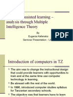 Computer Assisted Learning – Analysis Through Multiple Intelligences
