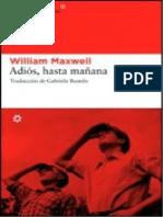 William Maxwell-Adiós, Hasta Mañana [701]
