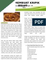 Leaflet Cara Membuat Kripik Belut