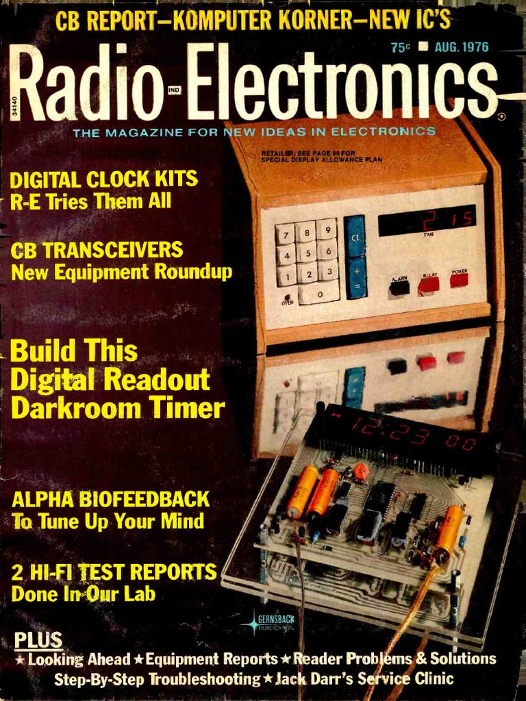 Radio Electronics 1976 08 | Compact Cassette | Diode