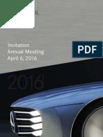 Daimler General Meeting Agenda 2016