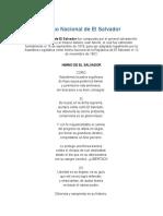 Himno Nacional de El Salvador y Oracion a La Bandera Con Fechas