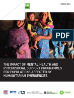 The Impact of Mental Health and Psychosocial Support Interventions on People Affected by Humanitarian Emergencies