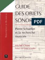 Michel Chion - Guide des objet sonores