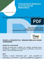 Planeamiento Didactico en La Lección de Matemática