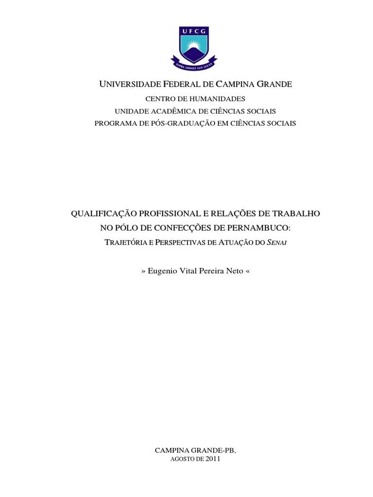 e97ce016c QUALIFICAÇÃO PROFISSIONAL E RELAÇÕES DE TRABALHO NO ...