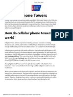 Cellular Phone Towers