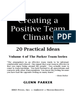 Creating a Positive Team Climate