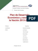 Plan de Desarrollo Económico y Social de La Nación 2013-2019