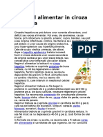 Regimul Alimentar in Ciroza Hepatica