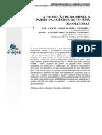 Biodiesel Do Tucumã - Enegep2013 TN STP 187 064 22125