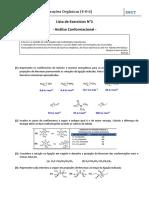 FRO Lista de Exercícios 2 - Análise Conformacional