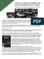 Demencia Digital en Colegios