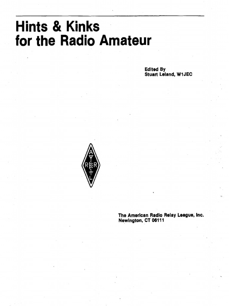 Hints and kinks for the radio amateur 1978pdf relay microphone publicscrutiny Image collections
