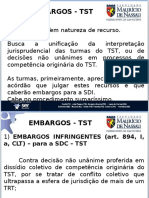 Embargos No TST