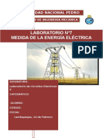 Laboratorio n=7 Medida de La Energia Electrica