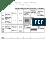 Jadwal Blok 17 Metodologi 2011