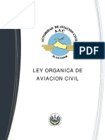 Ley Organica de Aviacion Civil el salvador