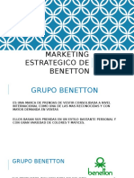 Marketing Estrategico de Benetton Diapositivas Bb
