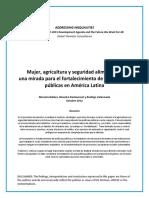 Mujer, Agricultura y Seguridad Alimentaria_ Una Mirada Para El Fortalecimiento de Las Politicas Publicas en America Latina (Span