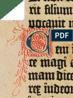 Bíblia de Gutemberg 1454 Letra C Iluminura