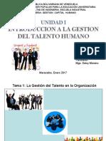 Unidad i. Introduccion a La Gestion Del Talento Humano