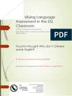 diversifying language assessment in the esl classroom