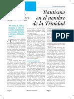 Bautismo en El Nombre de La Trinidad