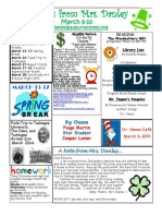 newsletter march 6-10