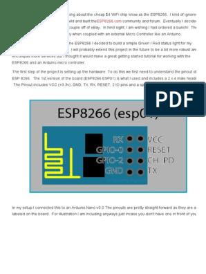Arduino ESP8266 Tutorial - Web Server Monitor Example