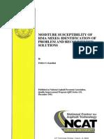 Moisture Susceptibility of Hot mix Asphalt Mixes