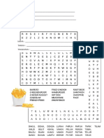 Word Search Fast Food