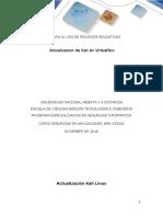 Guía Para El Uso de Recursos Educativos - Actualización Kali en Virtual Box