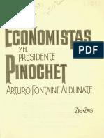Fontaine, Arturo - Los Economistas y El Presidente Pinochet