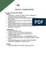 TORAIZ SP 16 Firmware Change History Ver130 en (1)