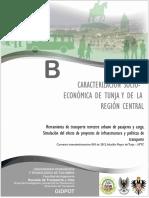 Caracterización Socio-económica de Tunja y La Región Central