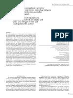 Requerimientos Energéticos y Proteicos Estimados Por Calorimetría Indirecta y Nitrógeno Urinario en Pctes Con Quemadura o Pancreatitis Aguda