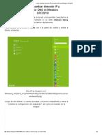 Como Cambiar Dirección IP y Servidor DNS en Windows XP_7!8!10
