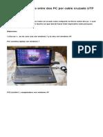 Compartir Archivos Entre Dos PC Por Cable Cruzado UTP