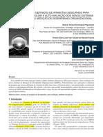 A Auto-avaliação dos Novos Sistemas de Medição de Desempenho Organizacional