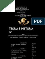 Castillo Venturoso de San Salvador y Comedor Universitario UES