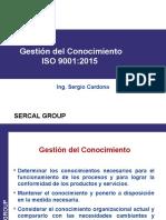 Gestion Del Conocimiento Iso 9001 2015