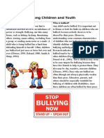 Bullying Among Children and Youth