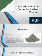 Materia Prima Del Cemento Portland Común