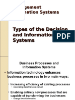 Types of Decision and Information System