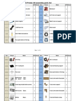 3D Printer A8 Assembly Parts List